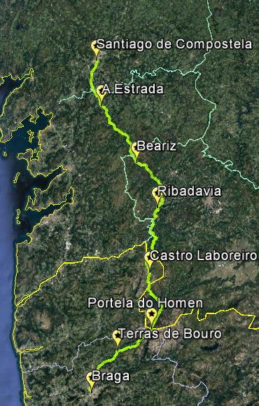 Camino-Geira-romana-Miñoto-Arrieiros-Ribeiro
