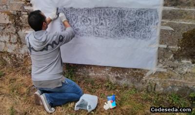 piedra-grabada-latin-tecnica-calco