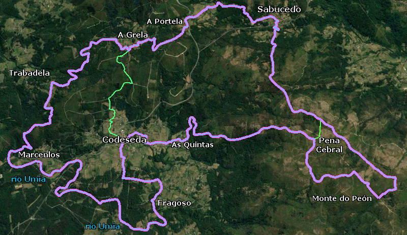 Recorrido de la ruta de senderismo #retoCodeseda-Sabucedo